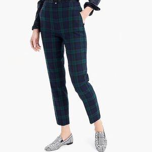J Crew Mattie Slim Crop Blackwatch Plaid Pants NEW